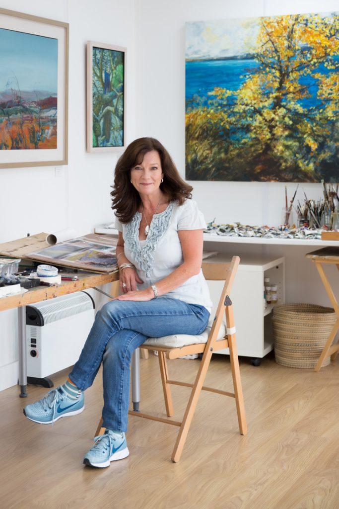 Julia Christie artist in studio