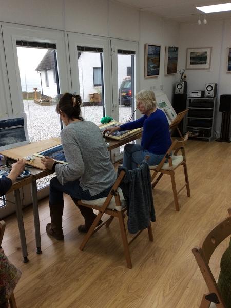 Julia Christie painting on Skye students 05