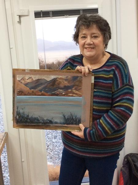 Julia Christie painting on Skye students 06