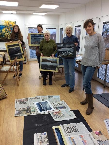Julia Christie painting on Skye students 07