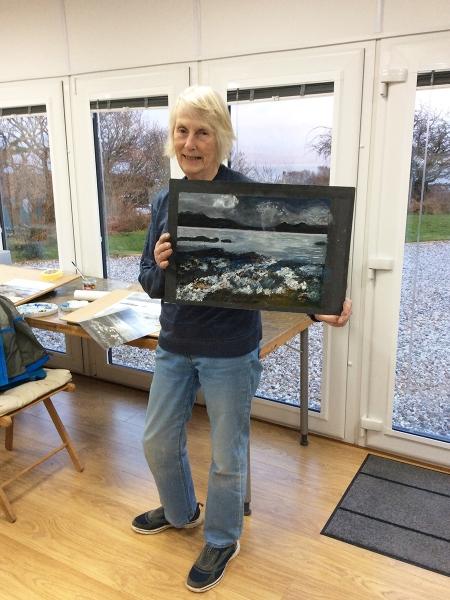 Julia Christie painting on Skye students 08
